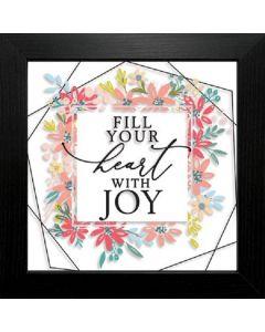 Fill Your Heart with Joy, Framed Suncatcher