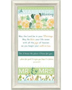 A Marriage Blessing, Mr & Mrs Framed Art