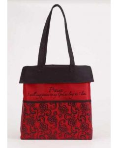 Hand Bag/Canvas: Praise Inspirational, Red