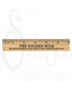 "Golden Rule 6"" Wood Ruler"