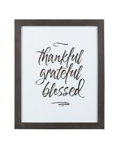 Plaque/Framed-Thankful Grateful Blessed