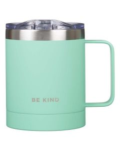 Mug: Camp Stainless Steel-Be Kind, Teal
