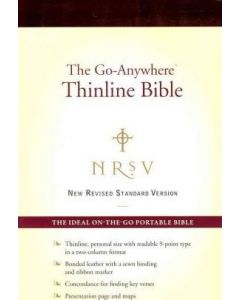 NRSV The Go-Anywhere Thinline Bonded-Burgundy