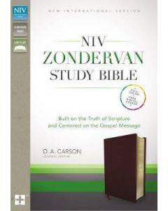 NIV Zondervan Study Bible (Bonded Leather - Burgundy)