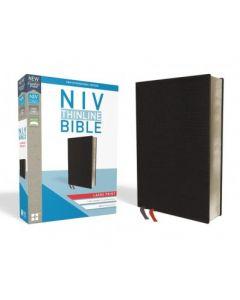 NIV Thinline Bible - Large Print, Bonded Leather, Black,