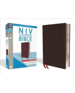 NIV, Thinline Bible, Large Print, Bonded Leather, Burgundy
