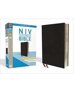 NIV Thinline Giant Print, Black Bonded Leather, Indexed +