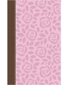 NIV, Thinline Reference Bible, Large Print, Pink/Brown