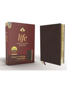 NIV Life Application Study Bible, Third Edition, Bonded Leather, Burgundy, Red Letter