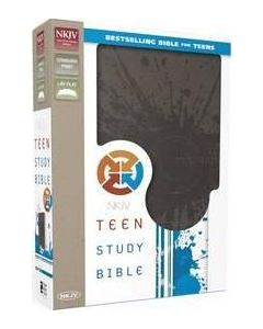 NKJV Teen Study Bible - Gray