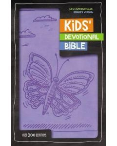 NIrV Kids Devotional Bible - Lavender Butterfly