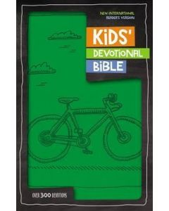 NIrV Kids' Devotional Bible, Imitation Leather, Green