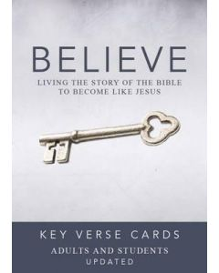Believe Key Verse Cards - Adults and Students, Updated