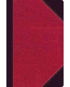 NKJV UltraSlim Ref. Bible (Leatherlook-Raspberry/Plum)