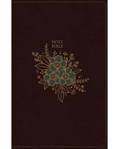 NKJV, Thinline Bible, Standard Print, Leathersoft, Mahogany, Red Letter Edition, Comfort Print