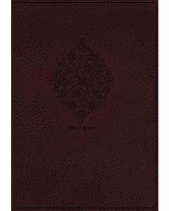 NKJV Compact Large Print Reference  Leathersoft-Burgundy