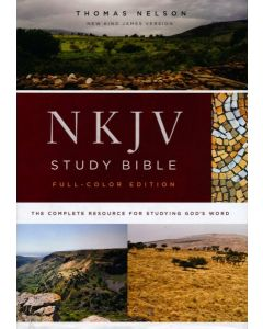 NKJV Full-Colour Study Bible, Hardcover, Comfort Print