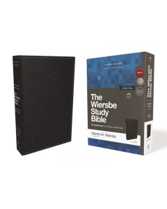 NKJV Wiersbe Study Bible, Leathersoft, Black, Red Letter, Comfort Print