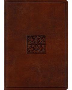 ESV Study Bible, Large Print TruTone - Walnut, Celtic