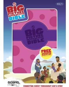 NKJV Big Picture Interactive Bible - Purple/Pink Polka Dot LeatherTouch