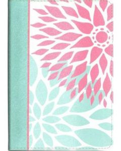 NKJV Compact Ultrathin Bible for Teens (Green Blossoms LeatherTouch)