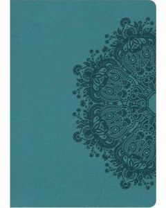 NKJV Large Print Compact Reference Bible - (Teal LeatherTouch)