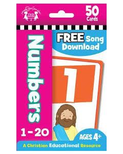 Numbers--Christian 50 Count Flash Cards