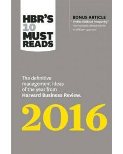HBR's 10 Must Reads 2016 (NETT)