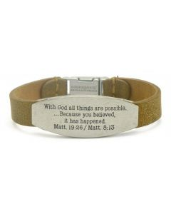 Bracelet GW-Single Peace, With God all Things...