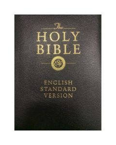 ESV Bonded Bible-Leather Black