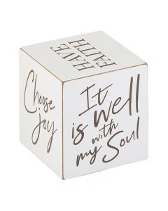 Square Quote Cubes - Inspirational - It is Well G4905