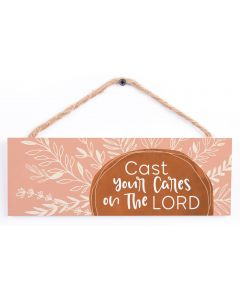 Hanging Sign-Cast Your Cares On The Lord, HPS0135