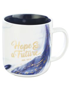 Mug: Coffee-Hope & A Future, Blue #MUG584