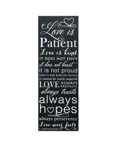 Plaque: Love Is Patient (PLK514-101)