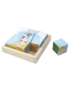 Wooden 6 In 1 Block Puzzle Bible History