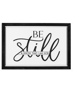 Framed Art: Be Still And Know I Am God, RFR0039