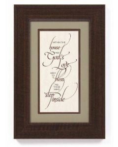 Framed Wall Art - Within This House #3589