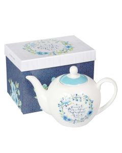 Teapot Ceramic: Sweet Friendship, Proverb 27:9, TEA006