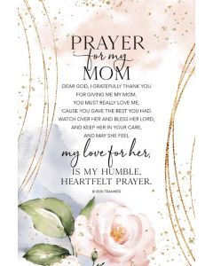 Framed/Heaven-Prayer for My Mom 5606