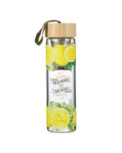 WaterBottle: It Is Well With My Soul Glass Infuser WBT148