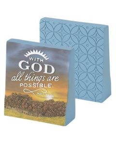 TableTop Wedge Resin-With God All Things, TTR-104*